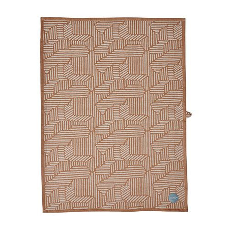 Paddy Tea Towel - Dusty Aqua / Caramel