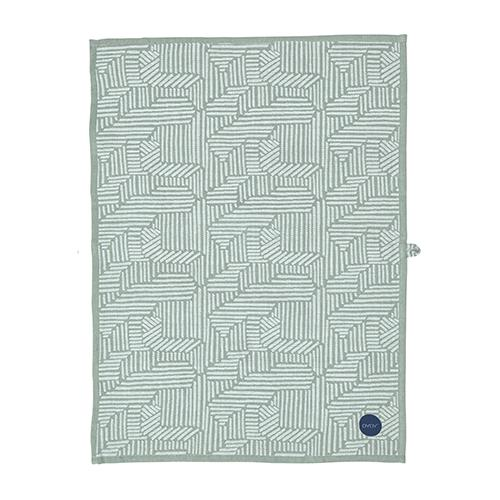 Paddy Tea Towels in Dark Blue and Pale Mint