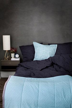 Dot Bedding - Adult - Anthracite / Black