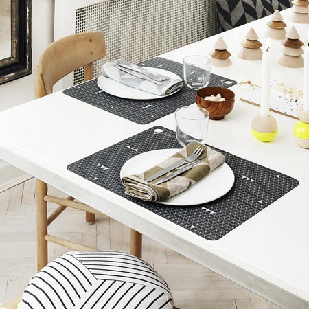 Placemat Grey Line