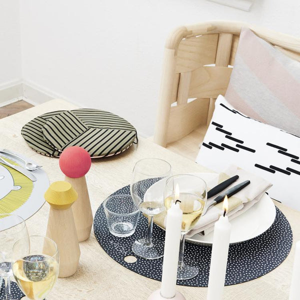 Placemat Dot - 2 Pcs/Pack - Dark Grey