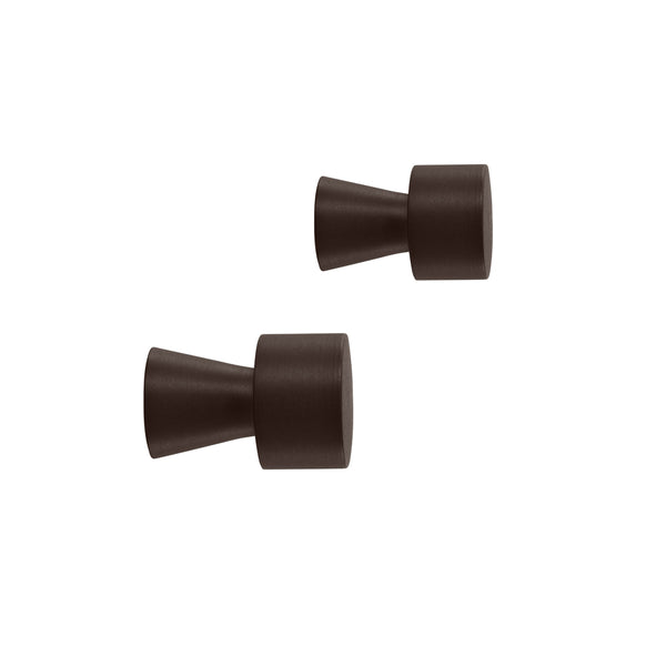Pin Hook / Knob - 2 Pcs/Pack - Brown