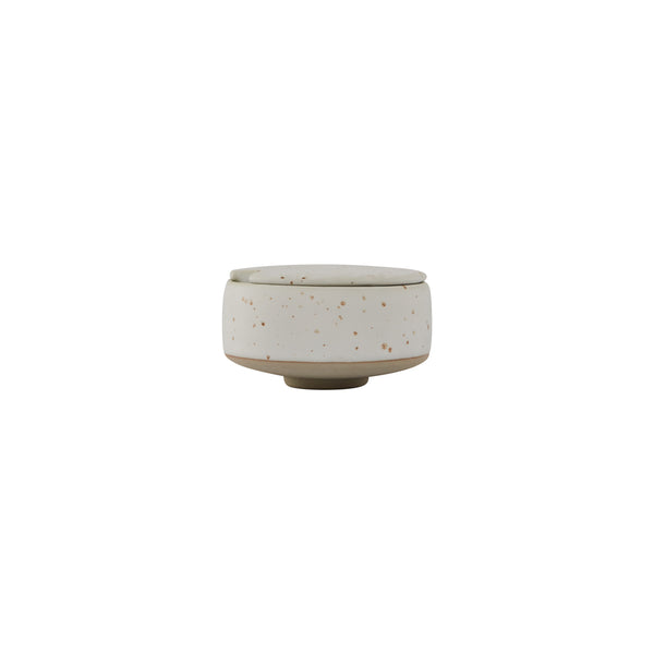 Hagi Sugar Bowl - White / Light Brown