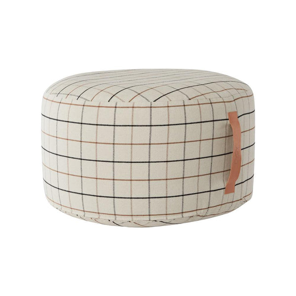 Grid Pouf Large - Offwhite