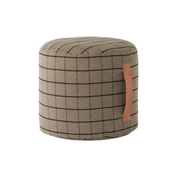 Grid Pouf - Clay