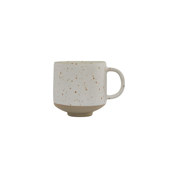 Hagi Cup - White / Light Brown