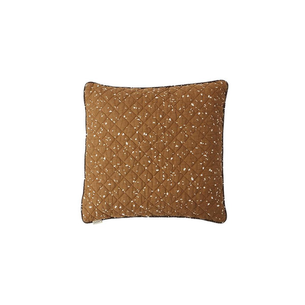 Quilted Aya Cushion - Caramel / Blue