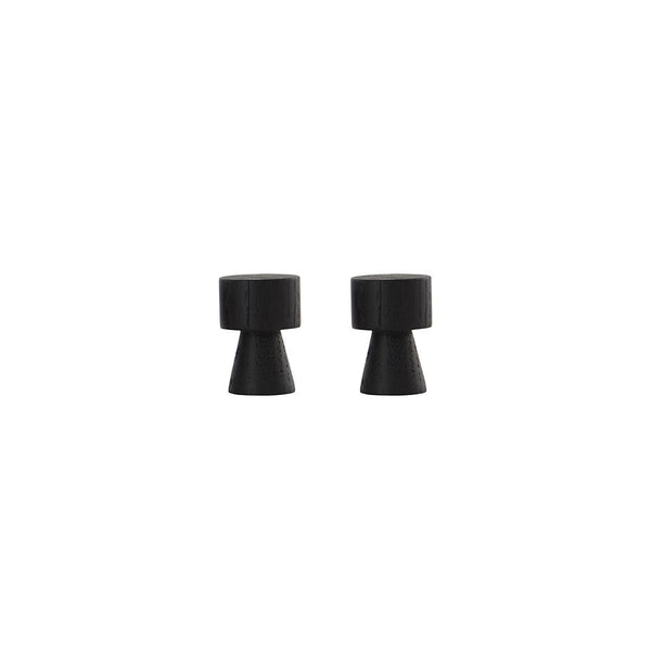 Pin Hook / Knob - 2 Pcs/Pack - Dark