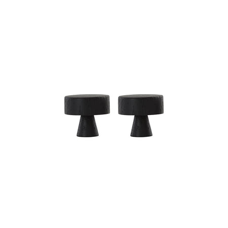 Pin Hook / Large Knob - 2 Pcs/Pack - Dark