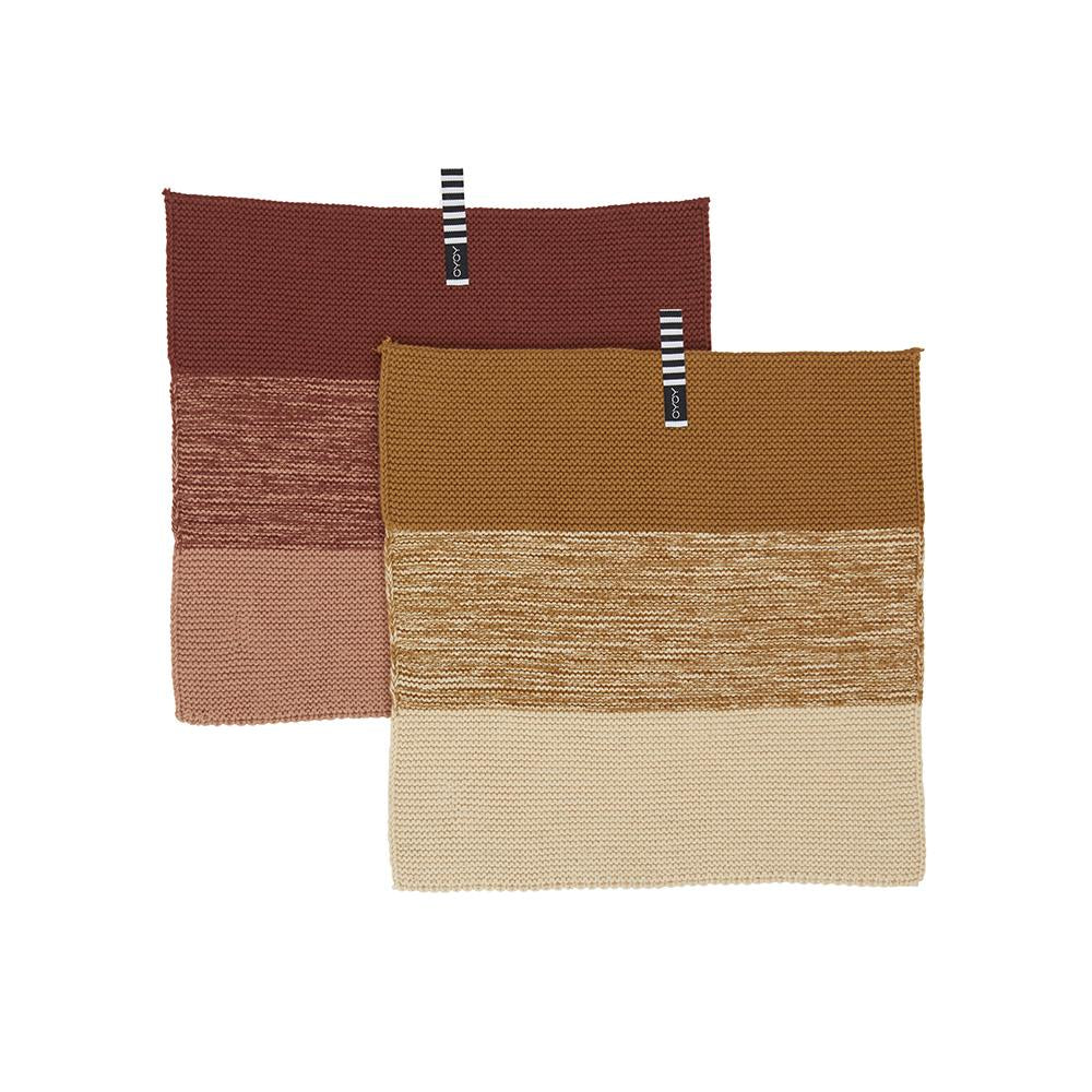 Niji Mini Dish Cloth - 2 PCS - Dark Caramel/Rubber