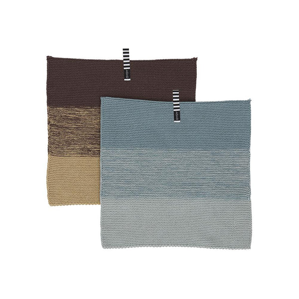 Niji Mini Dish Cloth - 2 PCS - Blue/Brown