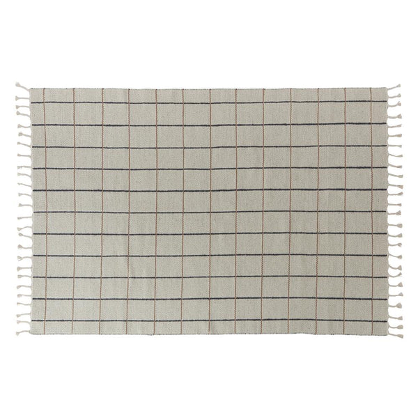 Grid Rug - Offwhite / Anthracite