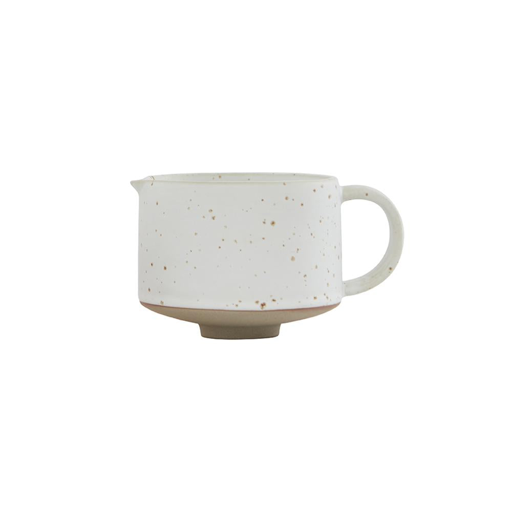 Hagi Milk Jug- White/Light Brown