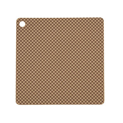 Placemat Checker - Pack of 2 - Camel