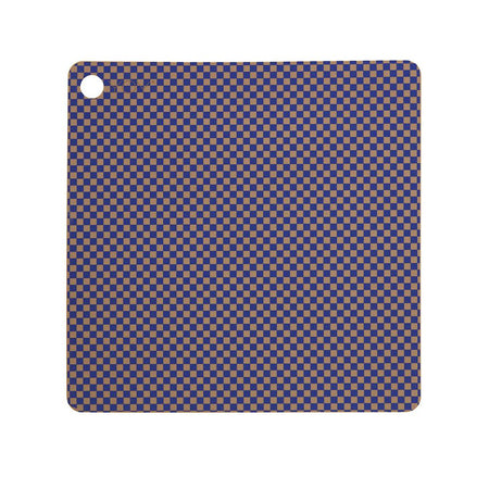 Placemat Checker - Pack of 2 - Optic Blue