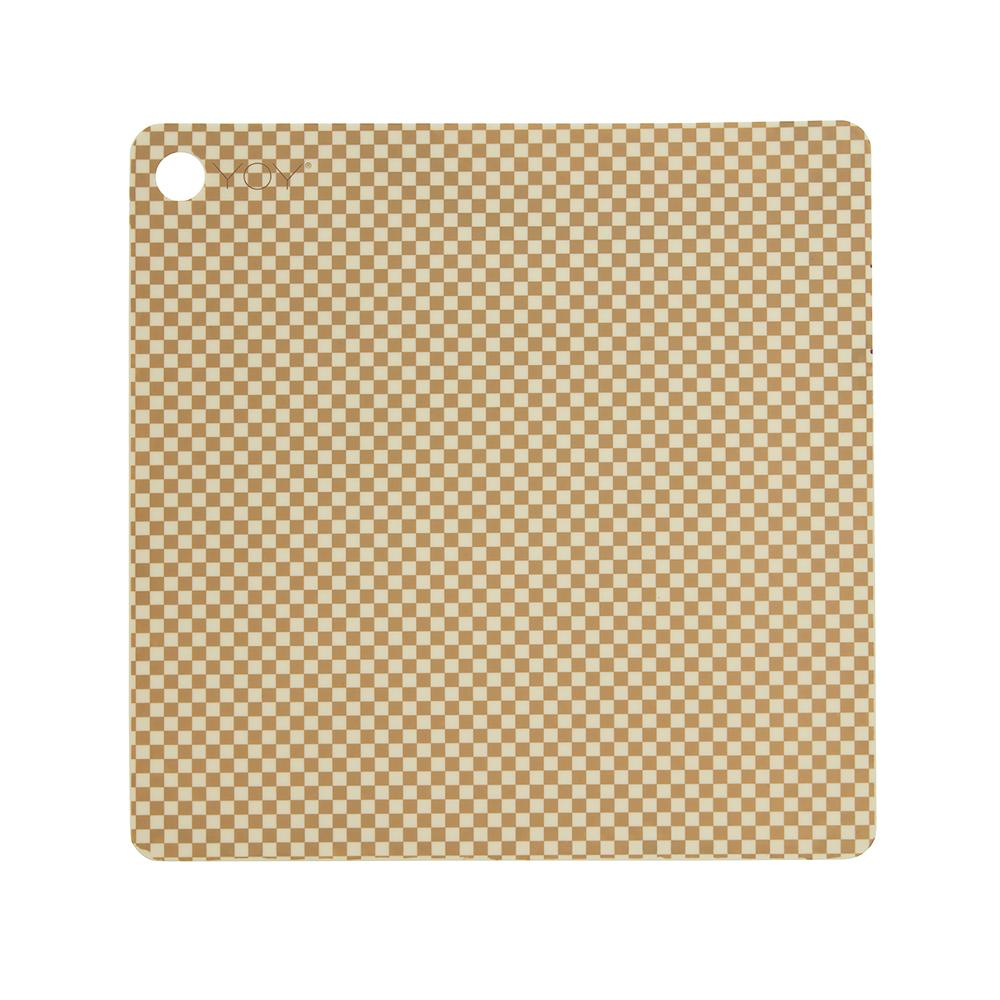 Placemat Checker - Pack of 2 - Vanilla