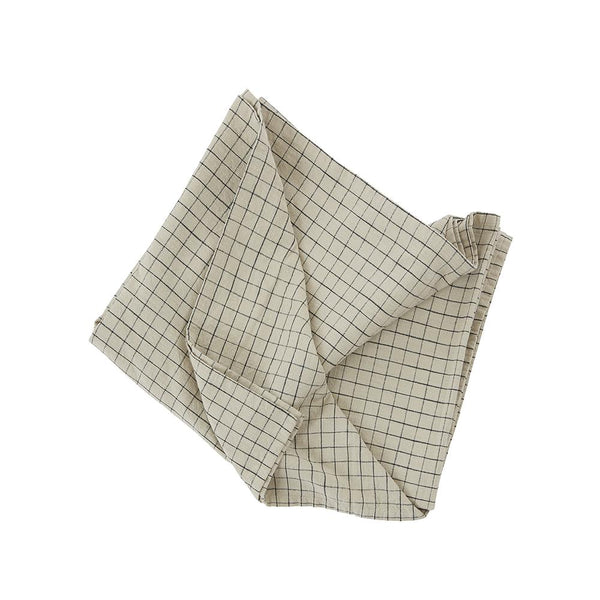 Grid Tablecloth - Small - Clay/Black