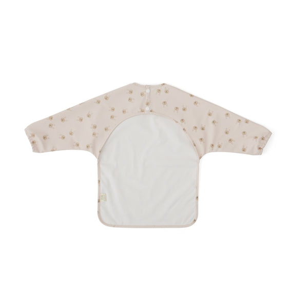 Cape Bib - Rabbit - Light Grey / Rose