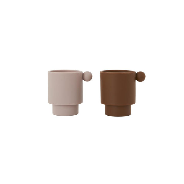 Tiny Inka Cup - Set of 2 - Caramel / Rose