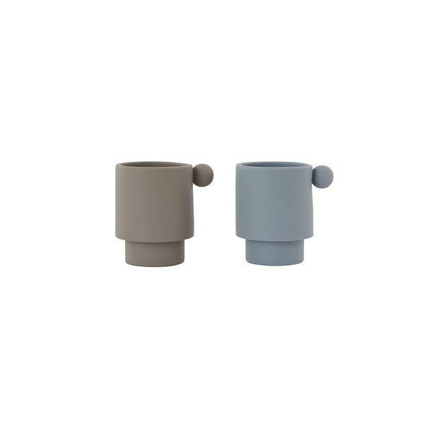 Tiny Inka Cup - Set of 2 - Dusty Blue / Clay