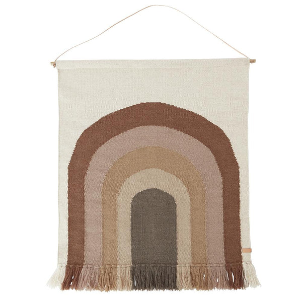 Follow the Rainbow Wall Rug - Choko