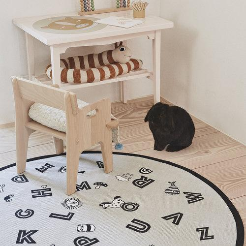 The Alphabet Rug - Light Grey