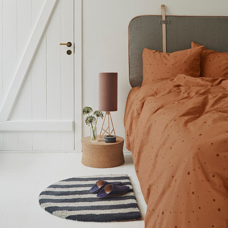 Dot Bedding in Caramel - Adult Extra Length