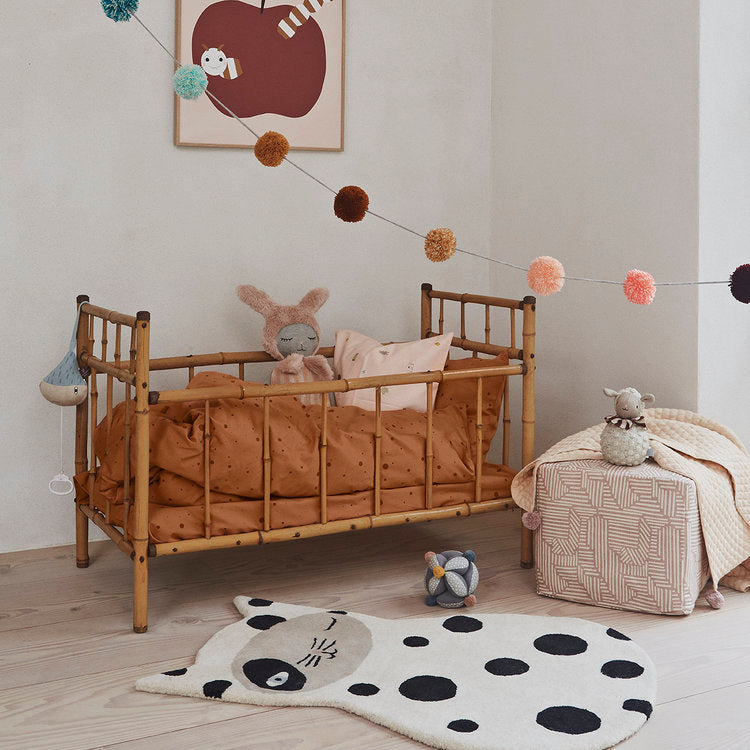 Dot Bedding in Caramel - Baby