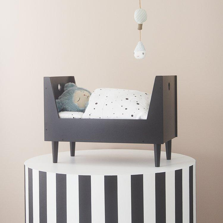 Retro Doll Bed in Dark Grey design by OYOY