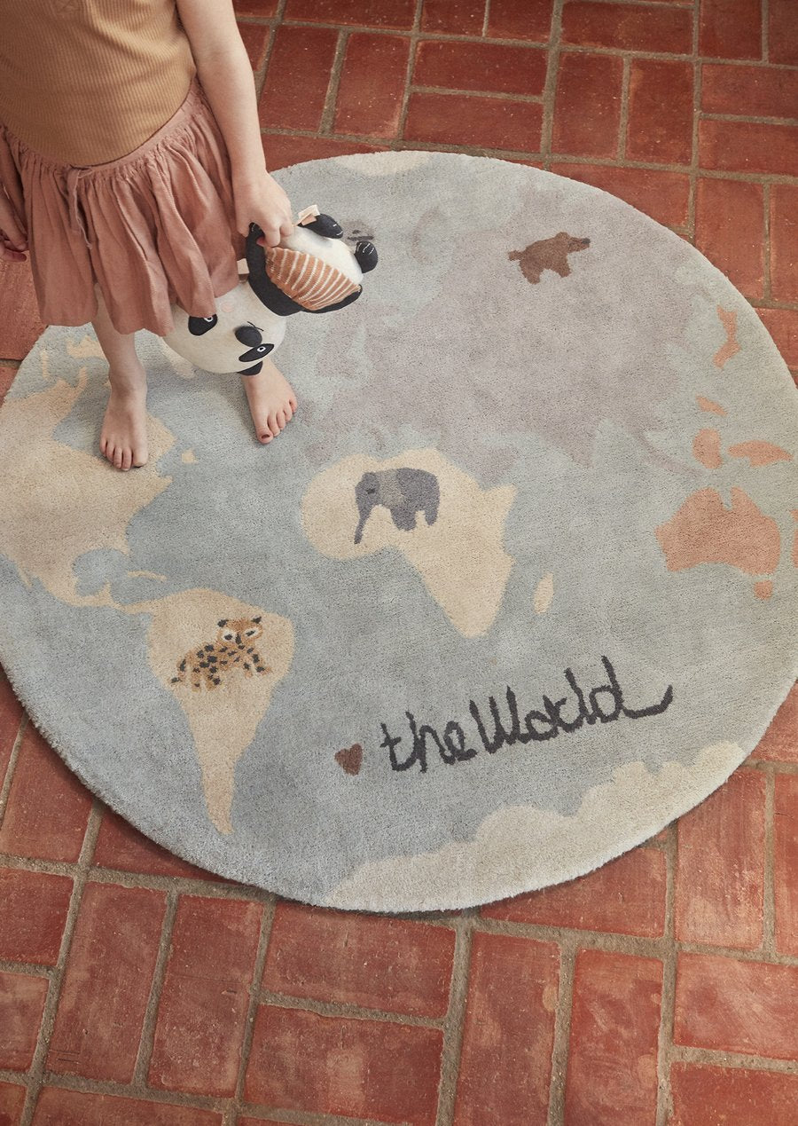The World Tufted Rug - Multi by OYOY