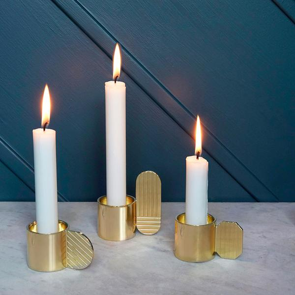 Art Candleholder - Oval - Brass