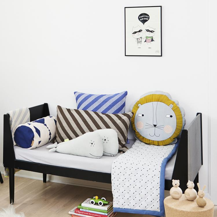 Fluffy Pillow in Choko design by OYOY