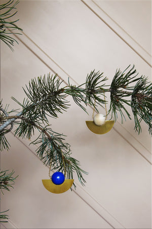 Lucia Christmas Ornament in Blue design by OYOY