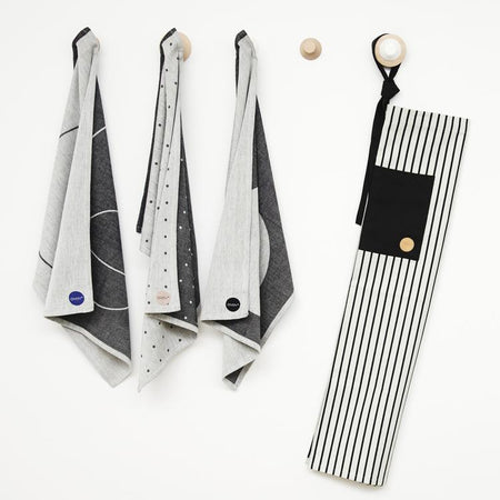 Cibo Apron in Black and White