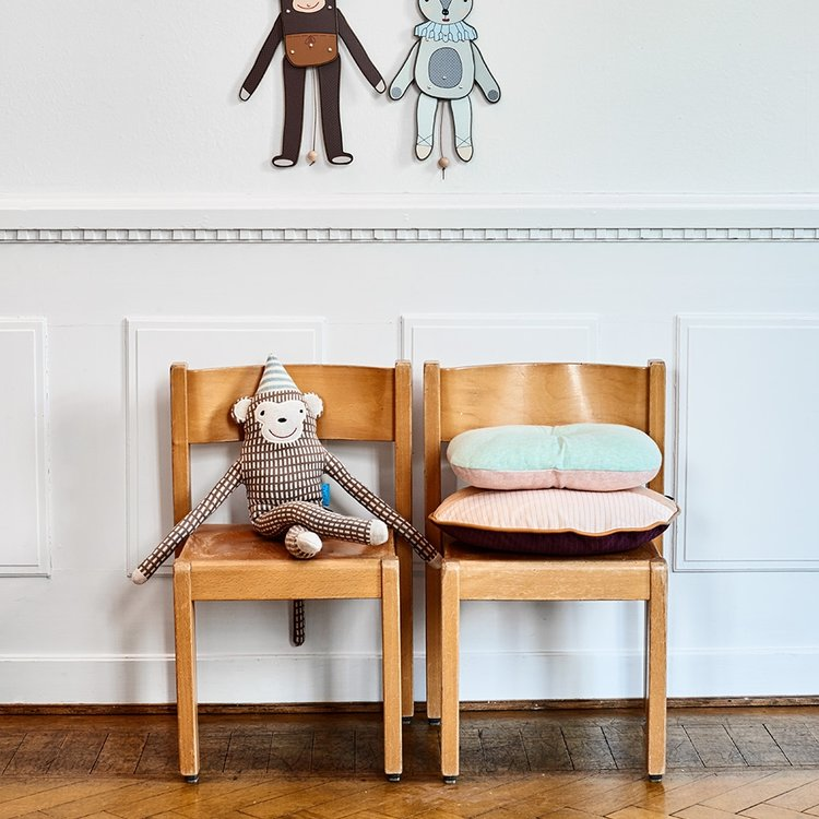 Mr. Nelsson Monkey Cushion