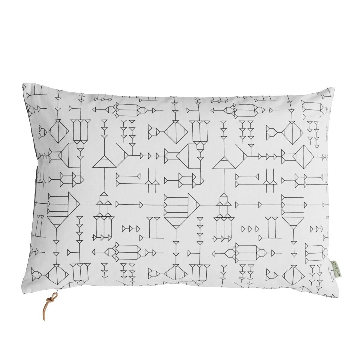 Cave Cushion in Grey & White design by OYOY