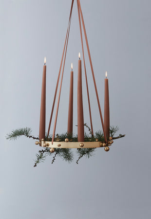 Pearl Advent Candleholder - Brass