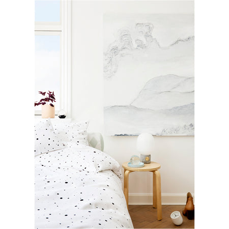 Dot Bedding in White & Black - Adult
