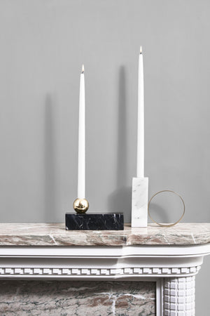 High Tangent Candleholder in White design by OYOY