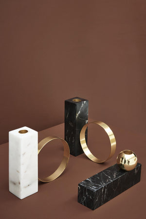 High Tangent Candleholder in Black design by OYOY