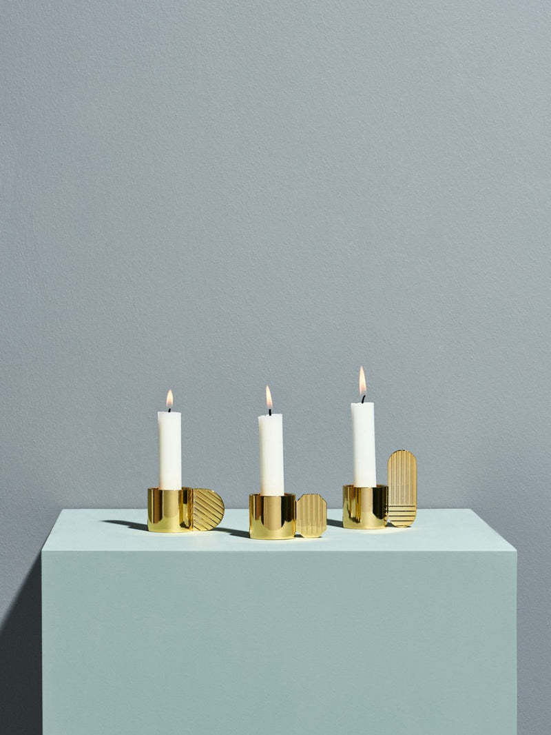Art Candleholder in Brass in Various Shapes design by OYOY