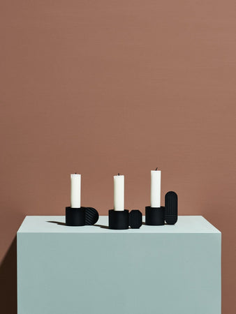 Art Candleholder in Black in Various Shapes design by OYOY