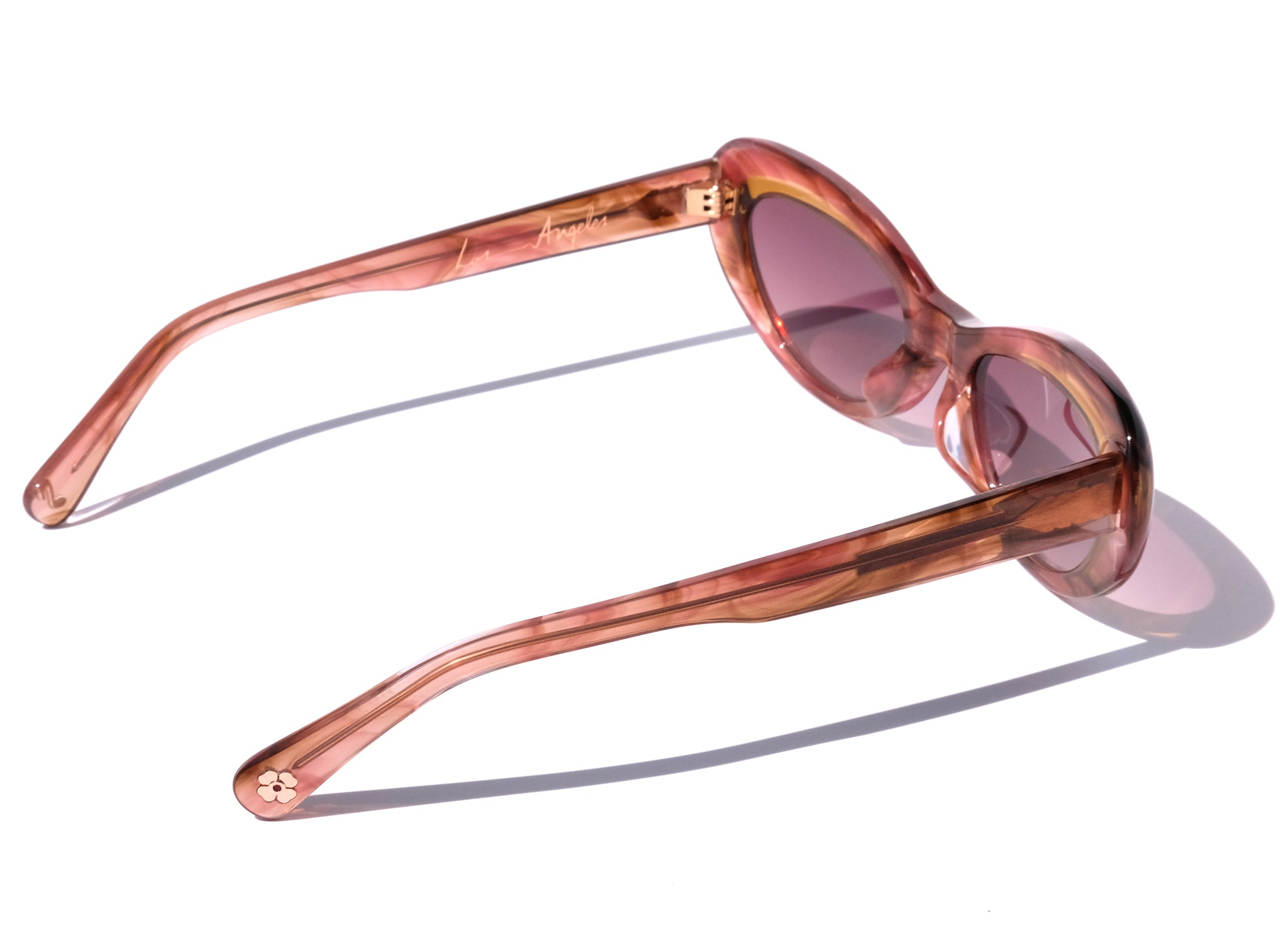 OCEANA IN HONEY SUNSET, PINK CAT EYE SUNGLASSES