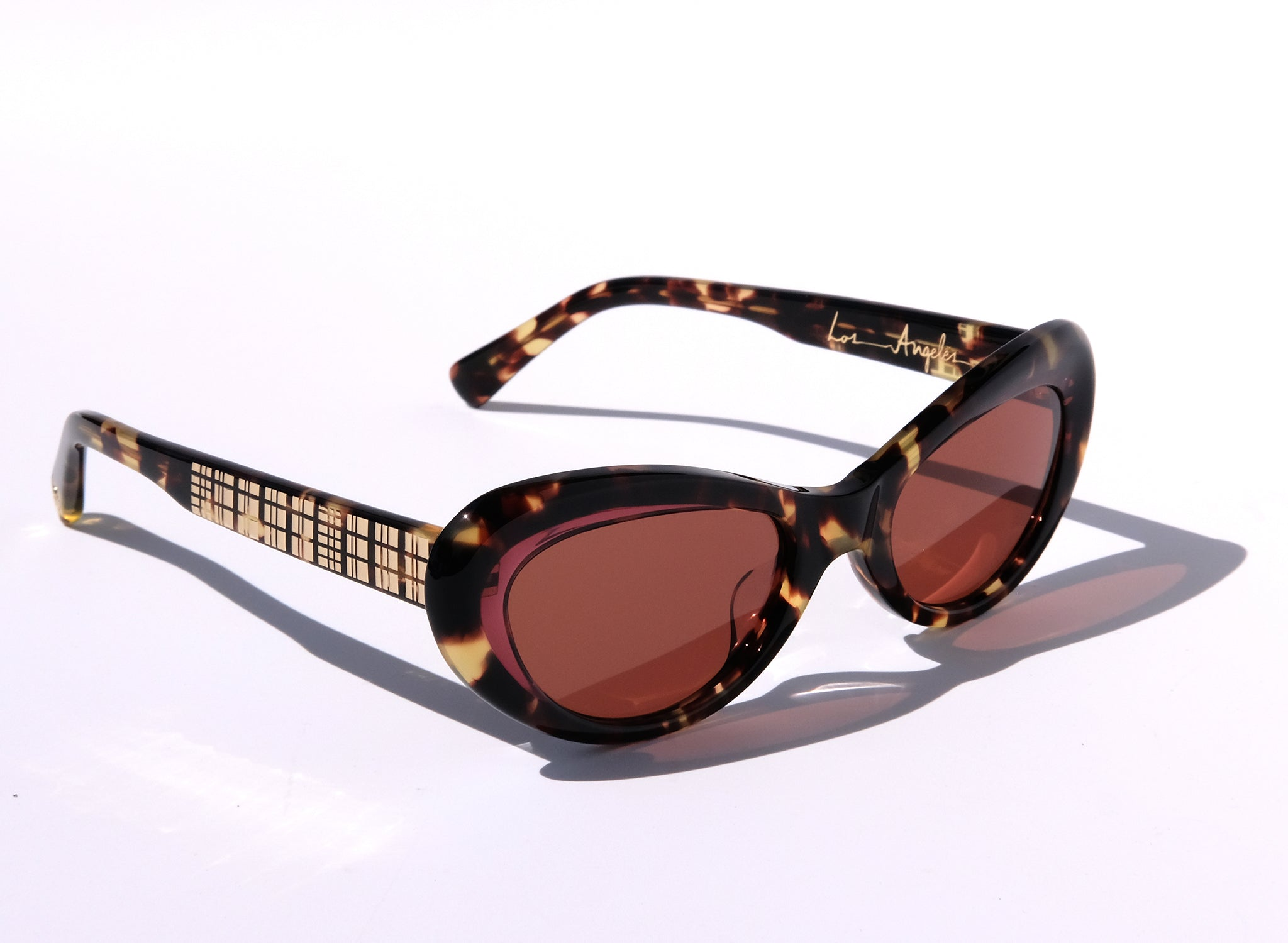 OCEANA IN PLUM TORTOISE, BROWN TORTOISE CAT EYE SUNGLASSES