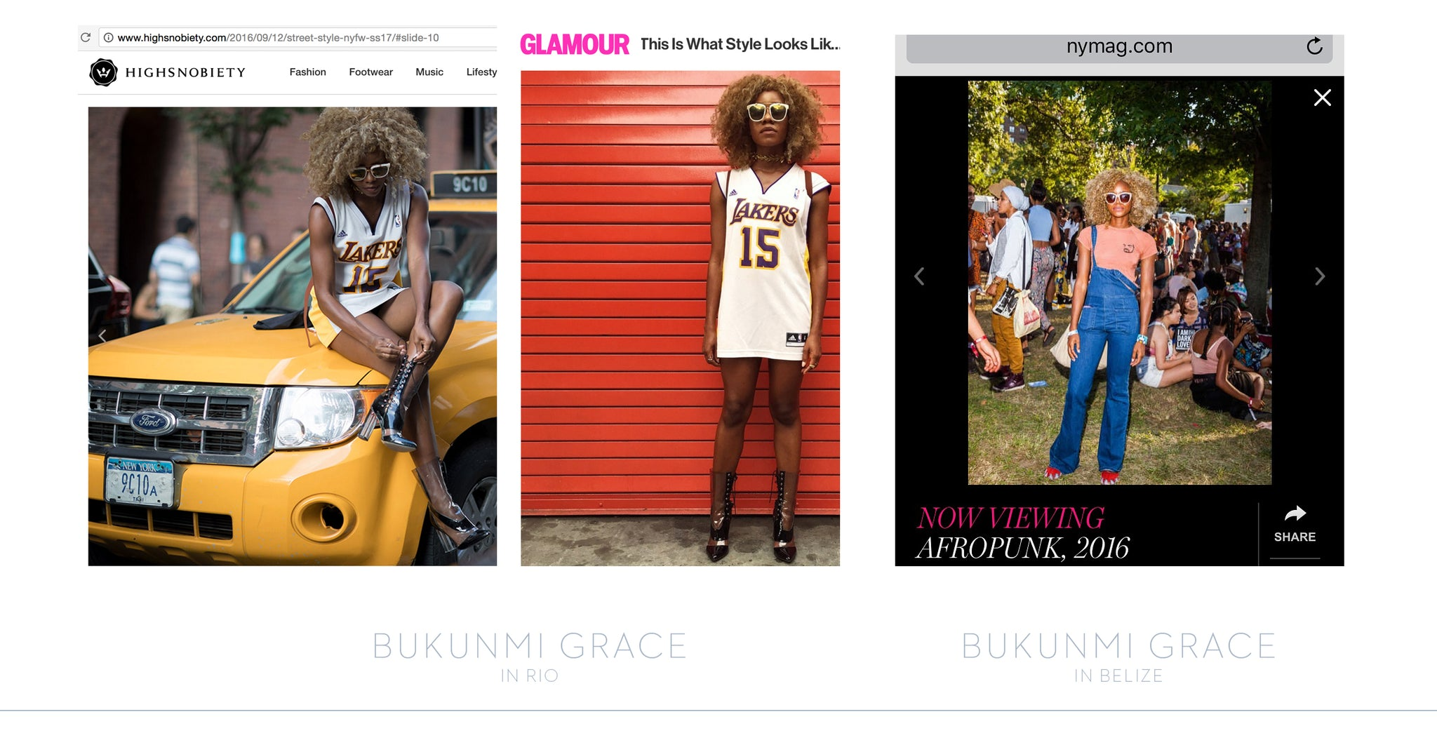 Bukunmi Grace in Tyche & Iset Designer Sunglasses -- NY Mag, The Cut, Glamour Mag, & High Snobiety