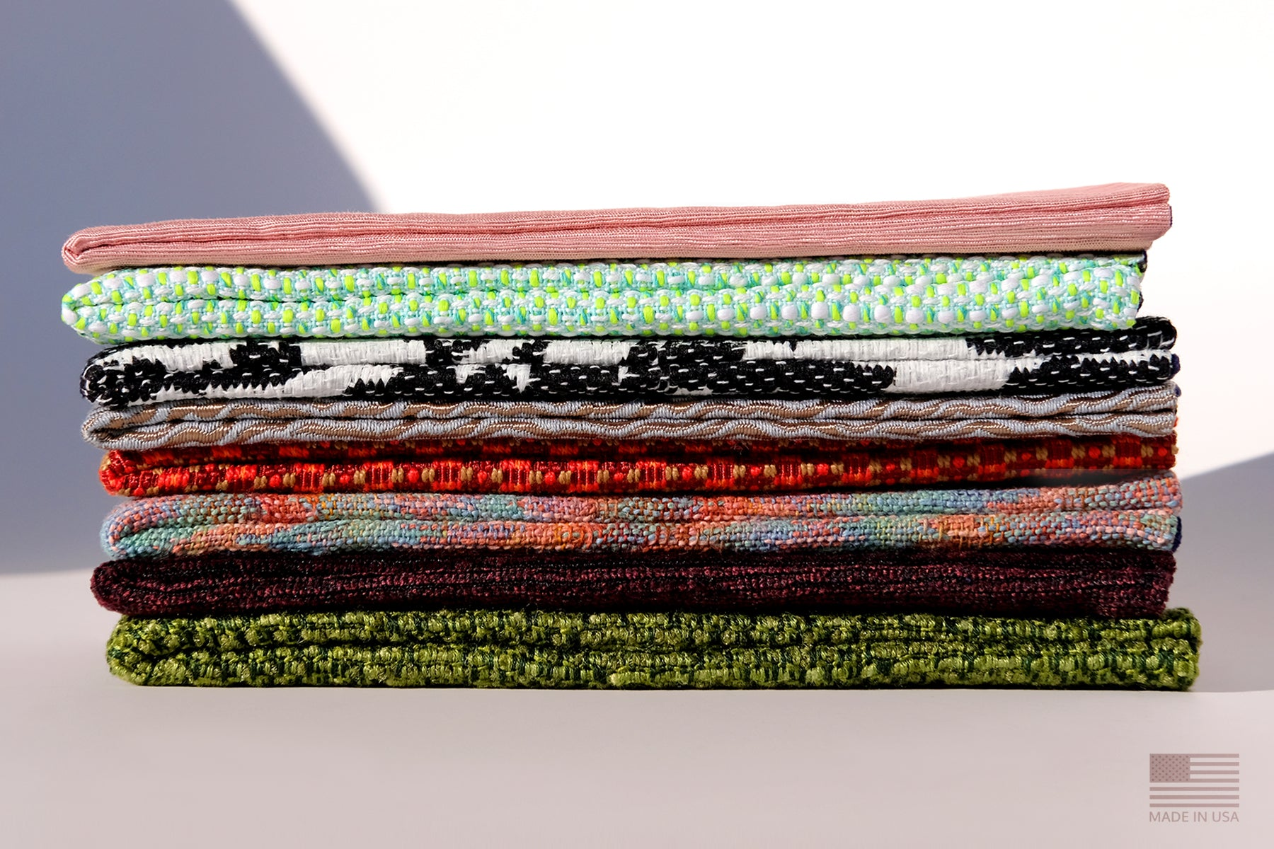 SUSTAINABLE, HANDMADE IN USA PACKAGING AND SUNGLASSES CASES. MADE FROM VINTAGE, RARE, DEADSTOCK FABRICS