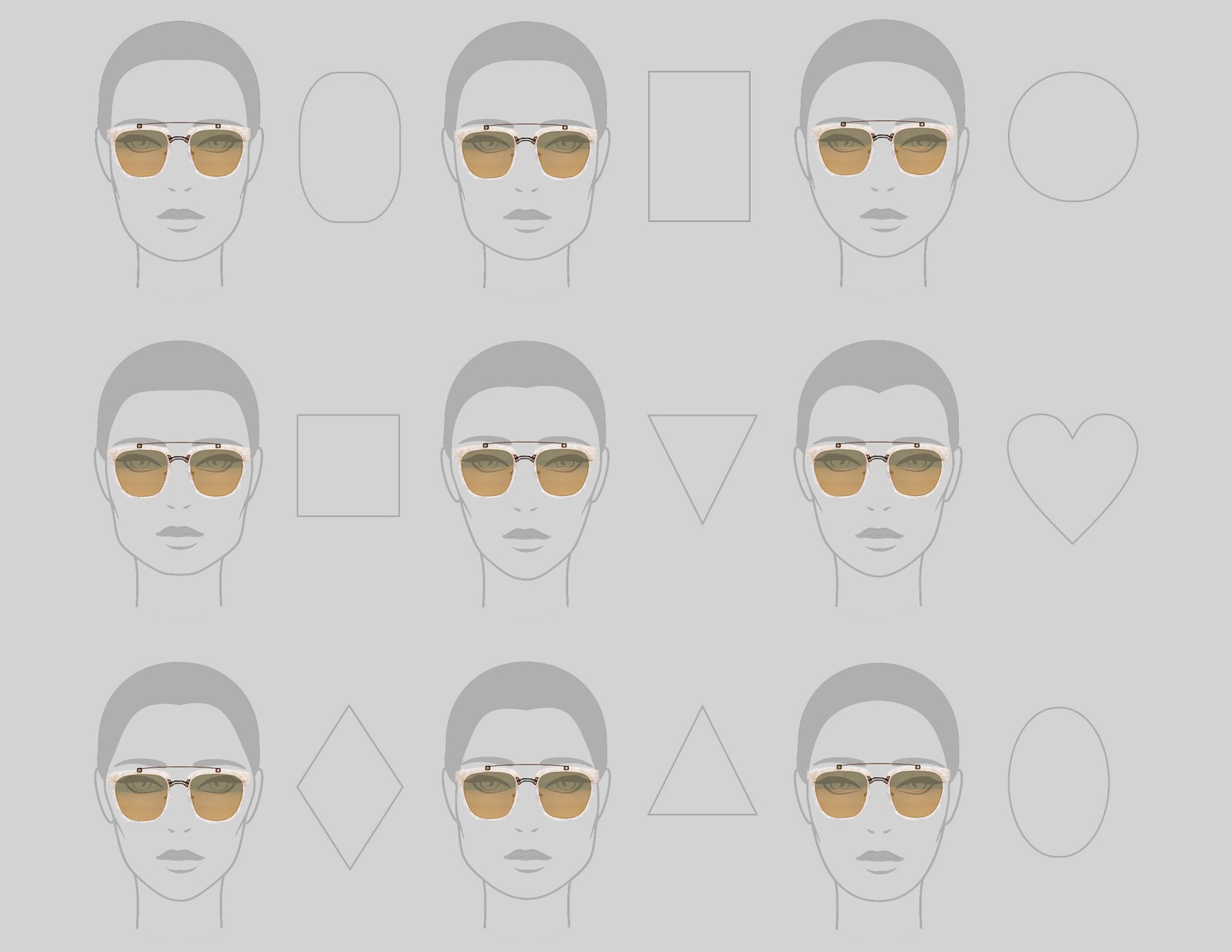 FIND YOUR FACE SHAPE -- USE OUR FACE SHAPE STYLE GUIDE TO VIEW HOW THE GLASSES MAY LOOK ON YOU. Pearl Sunglasses, White Glasses, Unisex Eyewear, Oversized Cat Eye Sunglasses, Sunglasses Face Shape Guide, Eyewear Style Guide, Independent Eyewear, Woman-Owned Business, Geometric Eyewear, Blue Sunglasses, Mythology, Accessories, Accessible Luxury, Los Angeles, Art Deco Inspired, Luxury, Celebrity Style