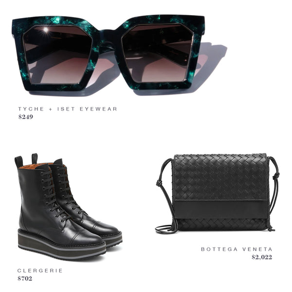 FASHION STYLE GUIDE: TYCHE + ISET SUNGLASSES, BOTTEGA VENETA PURSE, CLERGERIE BOOTS SHOES