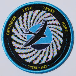 charity, eyewear, sunglasses, tyche iset eyewear, philanthropy, art for a cause, art deco, woven patch, embroidery, embroidered patch, charitable organizations, charity navigator, global community, homelessness, environmental protection, wildlife conservation, clean water, music and arts education, education, health, medical, good cause, make a difference, community, i want to help, sparrow, illustration, optical illusion