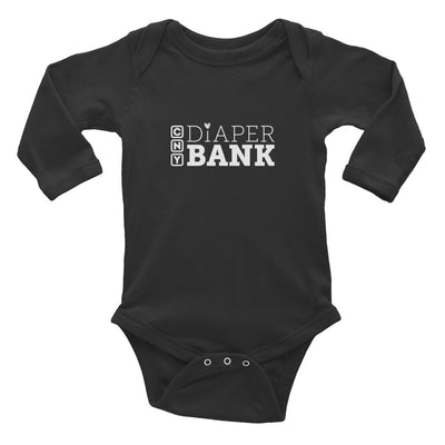 'CNY Diaper Bank' Long Sleeve Onesie